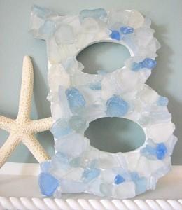Sea Glass Letter