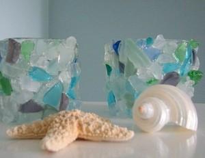 Sea glass decor