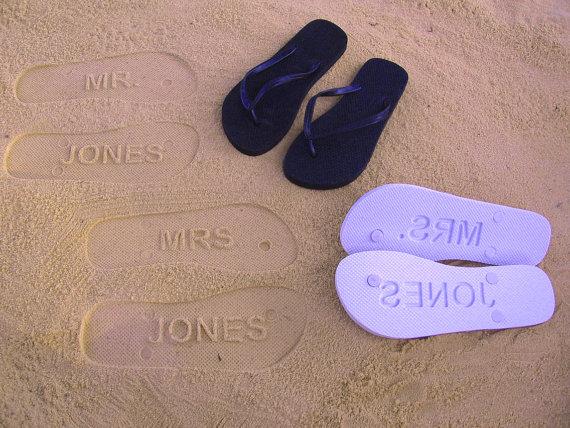 flip flops mr and mrs jones