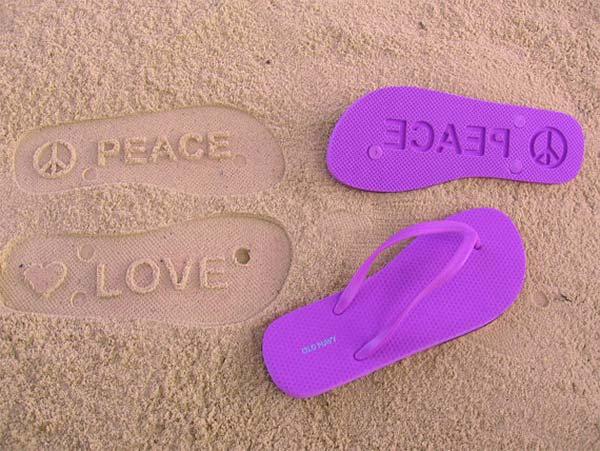 flip flops peace love