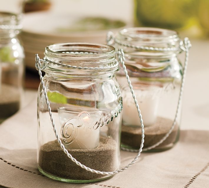 Mason Jar as Beach Lantern