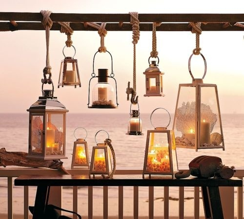 Beach Lanterns on Ropes