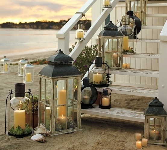 Beach Lanterns on Stairs
