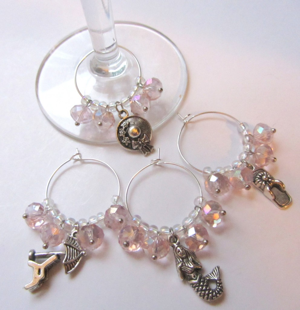 Day At The Beach Wine Charms