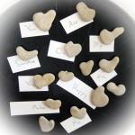 Heart Shaped Beach Stone Magnets