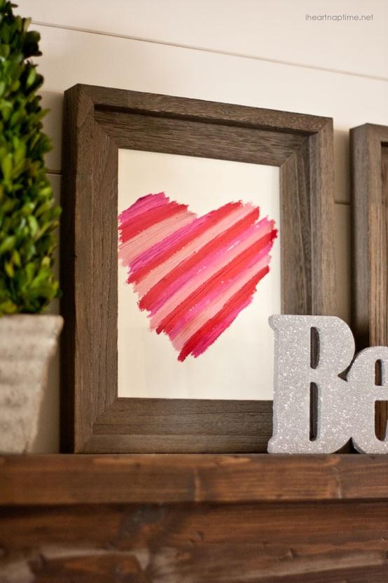 Lipstick Heart in Frame