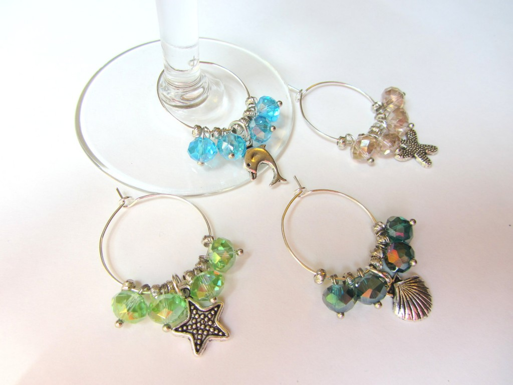 Wine Charms inspired by the sea