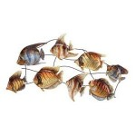 School of fish wall art