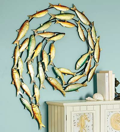 fish metal wall art