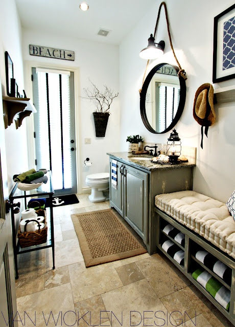 Rustic Beach Bathroom
