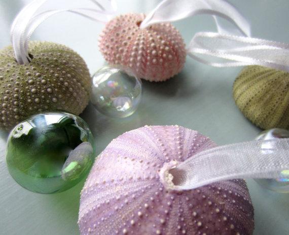 Sea Urchin Christmas Ornament Set