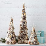 DIY Christmas Trees From Sea Shells