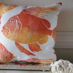 Orange Fish Pillow