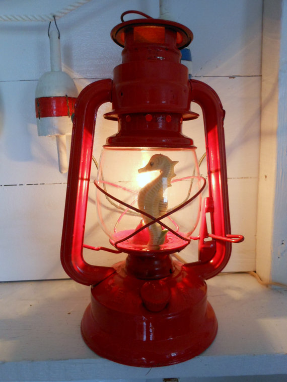 Red Seahorse Lantern
