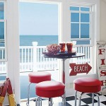 red beach decor