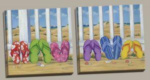 Colorful Beach Print